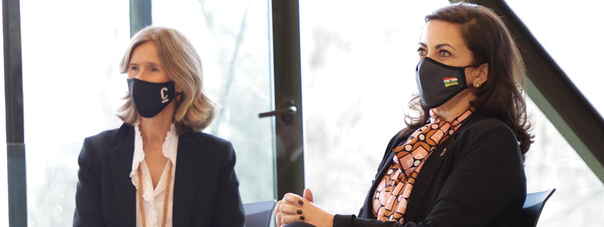 Presentamos con la presidenta de La Rioja la Encuesta de percepción social de la innovación