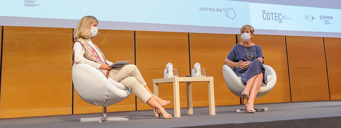 Encuentro sobre el modelo de innovación abierta en el País Vasco con la consejera Arantxa Tapia