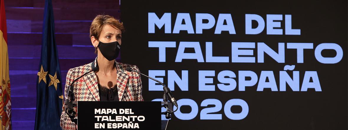 Presentamos con la presidenta de Navarra el 'Mapa del talento autonómico'