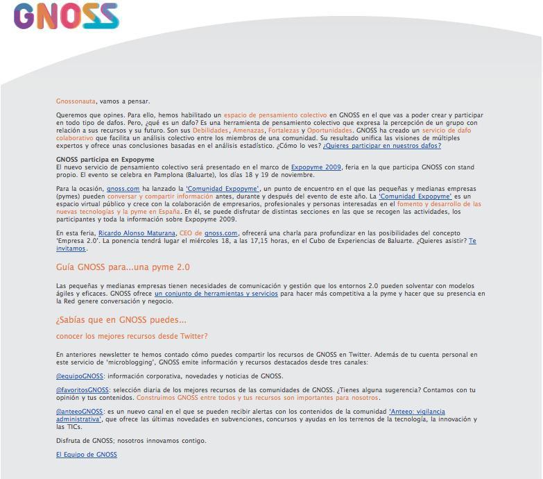 20091113 Newsletter semanal ES