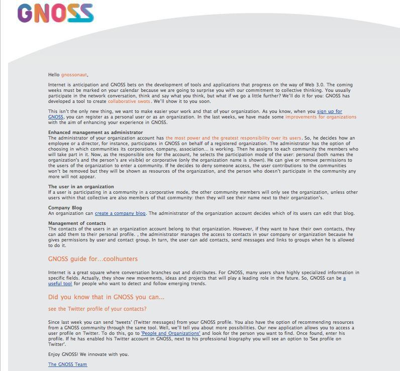 20091106 Weekly Newsletter EN