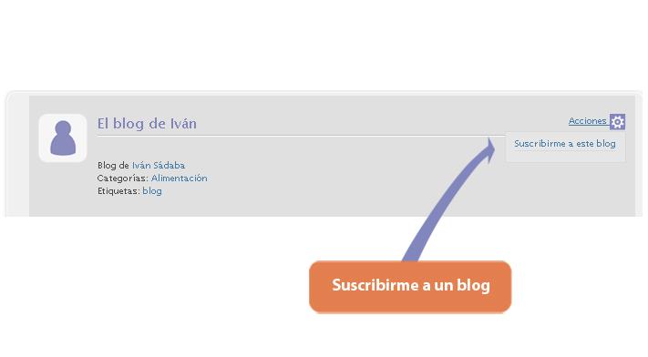 ¿Cómo me suscribo a un blog?