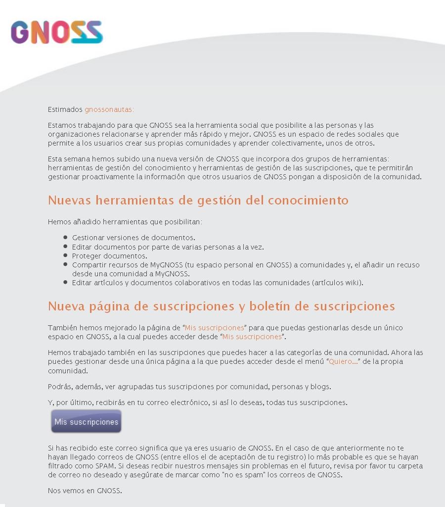 NEWSLETTER-¡TENEMOS UNA NUEVA VERSIÓN DE GNOSS! DESCUBRE SUS MEJORAS