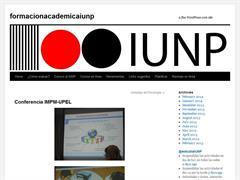 Formación Académica IUNP