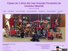 Clases de 3 años del Ceip Gonzalo Fernández de Córdoba (Madrid)