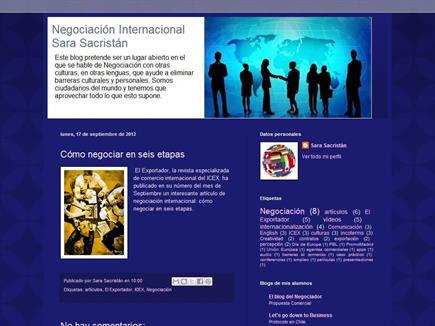 Negociación Internacional. Sara Sacristán