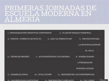I Jornadas de Escuela Moderna en Almería