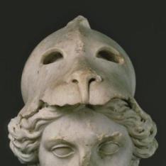 Cabeza barroca para la restauración de la Atenea Prómacos