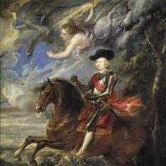 El cardenal-infante Fernando de Austria, en la batalla de Nördlingen