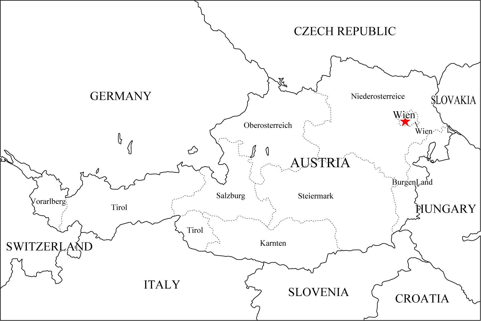Mapa De Austria Plano Austria Annamapa Com