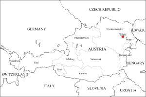 Mapa de estados federados de Austria. Freemap