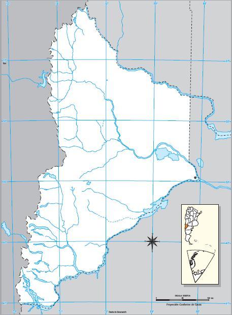 Mapa mudo de Neuquén. IGN de Argentina