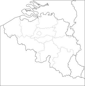 Mapa de provincias de Bélgica. Freemap