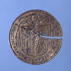 Matriz para sello del cardenal Francisco Mendoza y Bobadilla