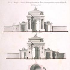 Alzado del proyecto para la Puerta de Atocha de Madrid