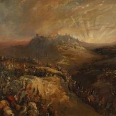Los cruzados ante Jerusalén