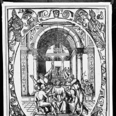 Cristo con la corona de espinas y escarnecido