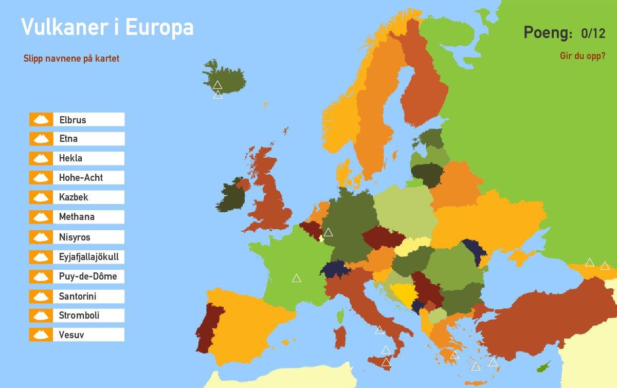 Vulkaner i Europa. Toporopa