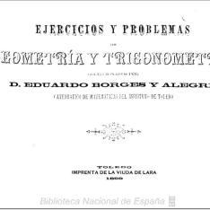 Ejercicios y problemas de geometría y trigonometría