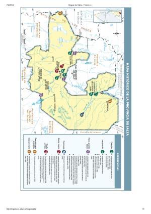 Mapa histórico de Salta. Mapoteca de Educ.ar