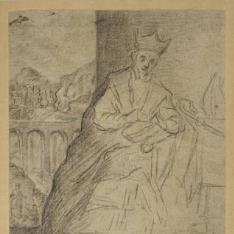 San Julián, obispo de Cuenca / Academia de joven desnudo