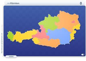 Länder Österreichs. Geographie Spiele