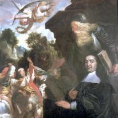 Retrato de Wilhem Lovius con San Guillermo y martirio de San Engelberto