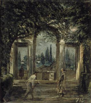 Vista del jardín de la Villa Medici de Roma