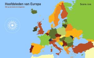 Hoofdsteden van Europa. Toporopa
