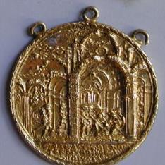 Medalla con Natividad y pecado original