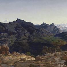 Paisaje de la sierra de las Agujas, tomado desde la loma del Caball-Vernat
