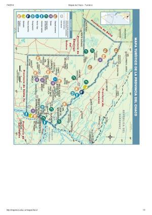 Mapa turístico del Chaco. Mapoteca de Educ.ar