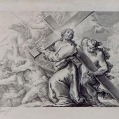 Jesús ayudado por el Cirineo