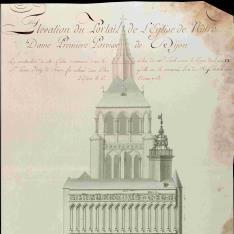 Portada de la iglesia de Notre Dame de Dijon