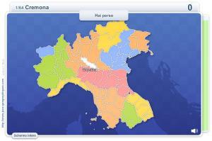 Province d'Italia (Nord). Giochi geografici