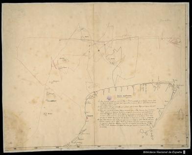 Carta de la península de Yucatán entre la laguna de Términos y la bahía de Chetumal
