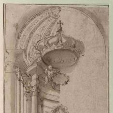 Proyecto de baldaquino y altar