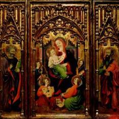 Vírgen con el Niño rodeada de ángeles músicos