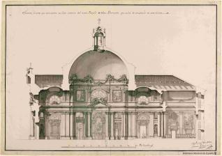 Proyecto para el nuevo Templo de San Bernardo.