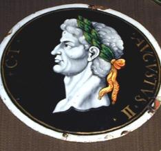 Placa del emperador Augusto