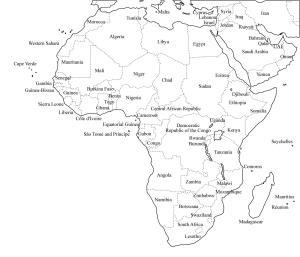 Mapa de países de África. Freemap