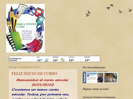 Lengua y Literatura 1º E.S.O. María Auxiliadora de Cáceres