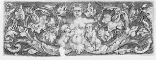 Ornamento con figura femenina y dos niños