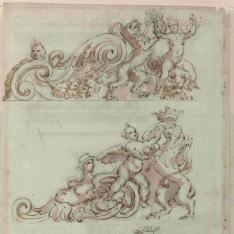 Basa, capitel y entablamento del orden compuesto