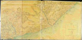 Plano de una parte de terreno entre Tarragona y Mataró