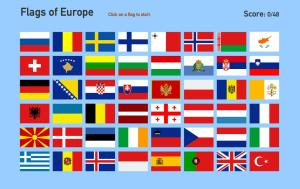 Flags of Europe. Toporopa
