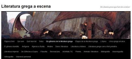 Literatura grega a escena