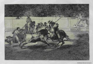 El esforzado Rendon picando un toro, de cuya suerte murió en la plaza de Madrid.