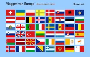 Vlaggen van Europa. Toporopa