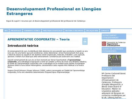 Desenvolupament Professional en Llengües Estrangeres